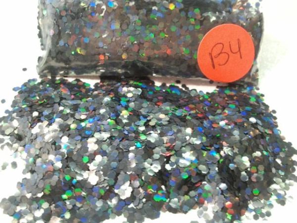 B4 Holographic Black .(062) Solvent Resistant Glitter