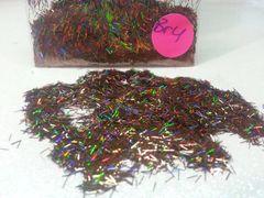 BR4 Holographic Brown Fiber Solvent Resistant Glitter