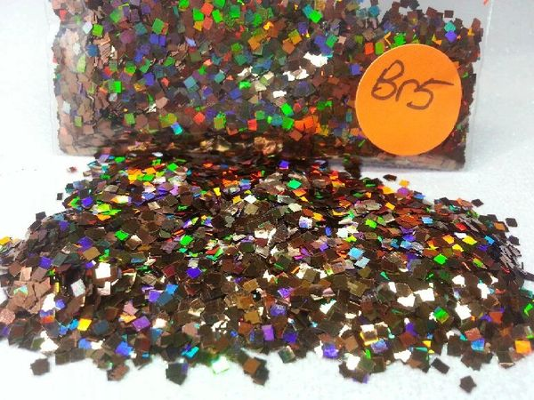 BR5 Holographic Coffee Squares Solvent Resistant Glitter