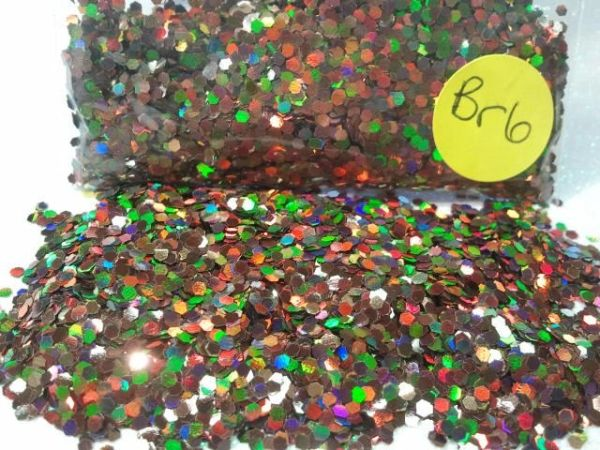 Br6 Holographic Coffee (.062) Solvent Resistant