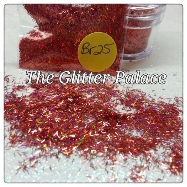 BR25 Holo Rose (Fibers) Solvent Resistant Glitter