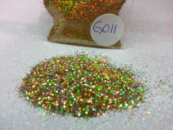 GO11 Holographic Mano Gold (.015) Solvent Resistant Glitter