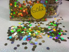 GO12 Holographic Gold Jewel (.094) Solvent Resistant Glitter