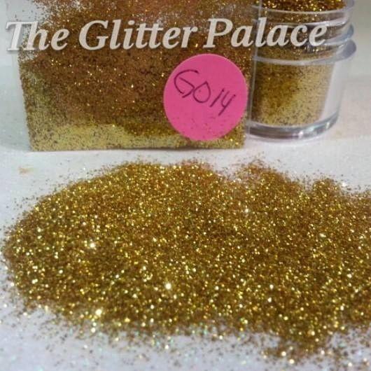 GO14 Medium Gold (.008) Solvent Resistant Glitter