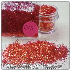 O15 Poppy Red (.040) Solvent Resistant Glitter