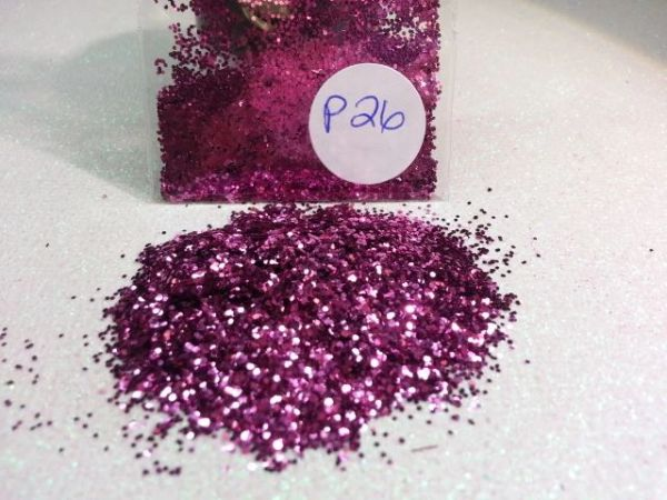 P26 Princess Pink (.025) Solvent Resistant Glitter