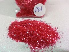 P31 Pink Glass (.040) Solvent Resistant Glitter