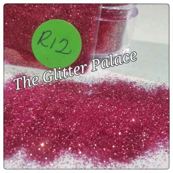 R12 Lotus Red (.008) Solvent Resistant Glitter