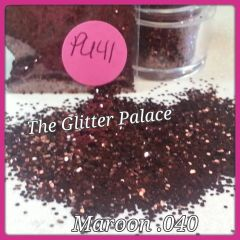 PU41 Maroon (.040) Solvent Resistant Glitter
