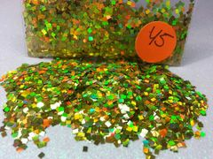 Y5 Holographic Chartrause (Squares) Solvent Resistant Glitter