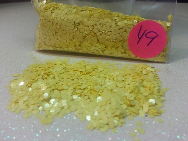 Y9 Caetus Yellow (.062) Solvent Resistant Glitter