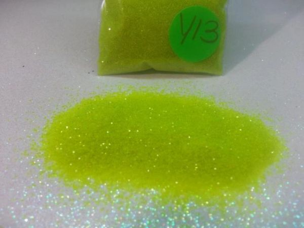 Y13 Neon Lime (.040) Solvent Resistant Glitter