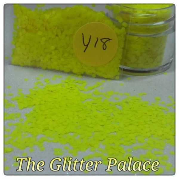 Y18 Neon Yellow (.062) Solvent Resistant Glitter