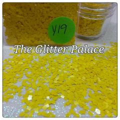 Y19 Ivy Yellow (Squares) Solvent Resistant Glitter