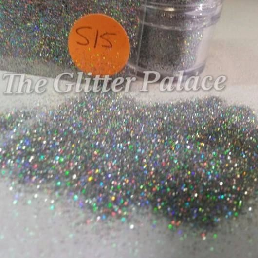 S15 Holo Silver (.008) Solvent Resistant Glitter