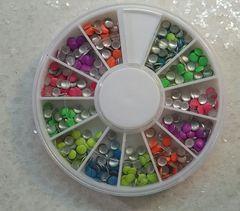 Stud Wheel #3 (neon round rhinestuds)