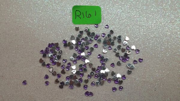 Rhinestone #R161 (purple heart rhinestone)(One pack)