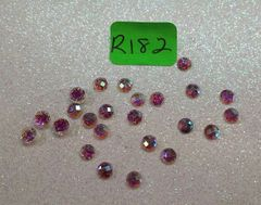 Rhinestone #R182 (3 mm fuscia Glitter stone)