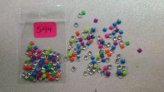 Stud #44 -S44 (mixed neon square stud)