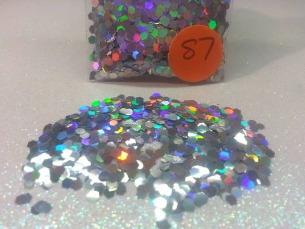 S7 Holographic Silver (.094) Solvent Resistant Glitter