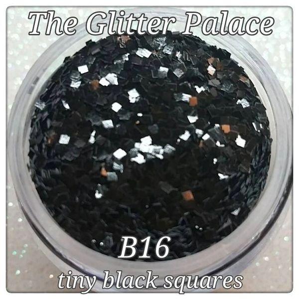 B16 Carrara Black (Squares) Solvent Resistant Glitter