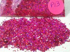 P13 Holographic Burgandy (.040) Solvent Resistant Glitter