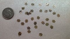 MI1 Gold Snowflake (24k very thin metal decoration) (25 pieces)
