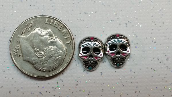3D Holiday Charm Sugar Skull #1 (1 piece)