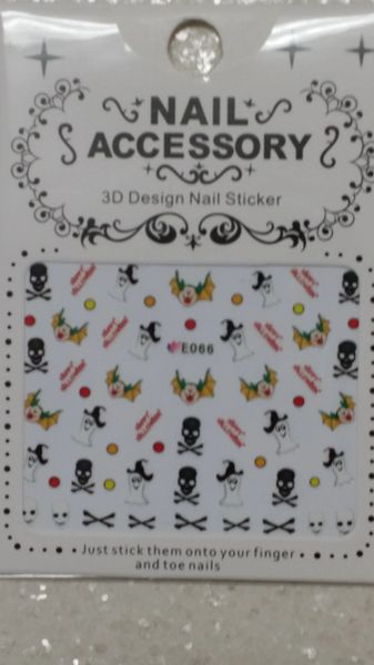 Water Slide Decal (E066) Halloween nail decals