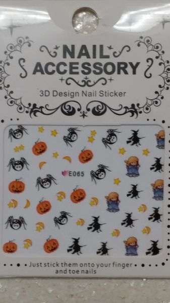 Water Slide Decal (E065) Halloween nail decals
