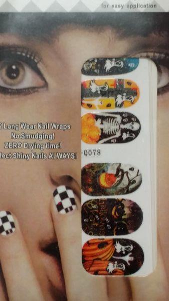 Sticker (Q078) Halloween nail decoration