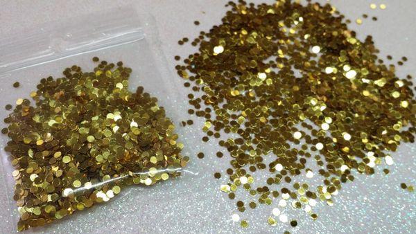 IN18 Gold Metallic Dots, Glitter Insert (1.5 gr baggie)