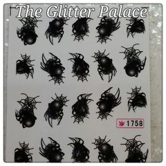 Water Slide Decal (1758) Halloween Spiders