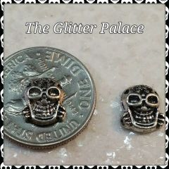 3D Skull #7 Tiny Metal Skull (pack of 2)