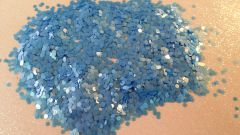 IN29 Periwinkle Blue Matte .078 Dots, Glitter Insert (1.5 gr baggie)