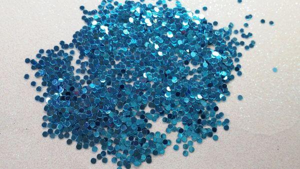 IN32 Metallic Blue .78 Dots, Glitter Insert (1.5 gr baggie)