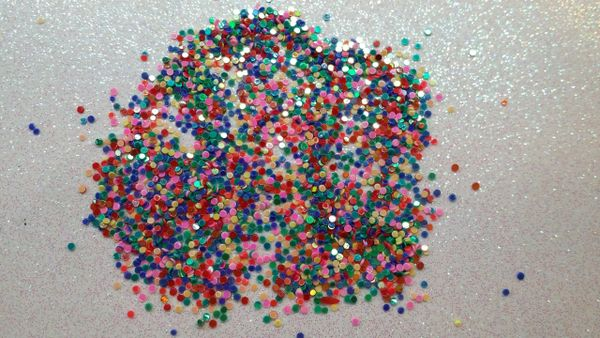 #IN34 Metallic Mix Dots, Glitter Insert (1.5 gr baggie)