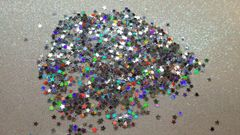 IN37 Holographic Silver 1/8th Star Glitter Insert (1.5 gr baggie)