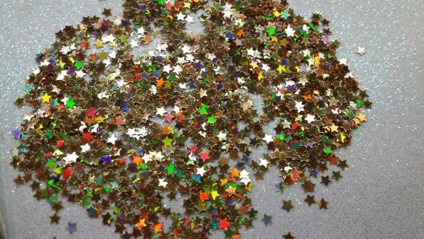 IN38 Holographic Gold 1/8th Star Glitter Insert (1.5 gr baggie)