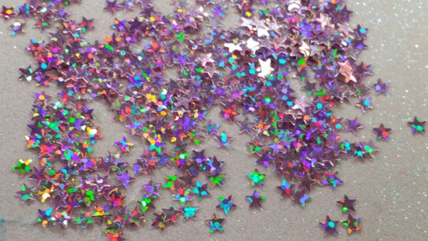 IN39 Holographic Pink Star Glitter Insert (1.5 gr baggie)
