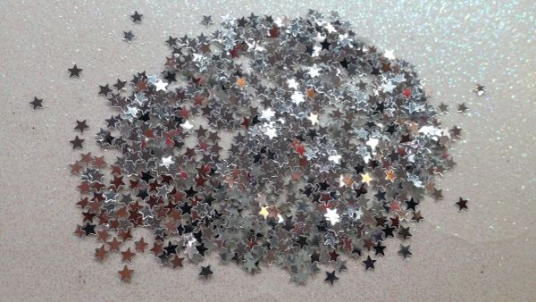 IN40 Silver 1/8th Star Glitter Insert (1.5 gr baggie)