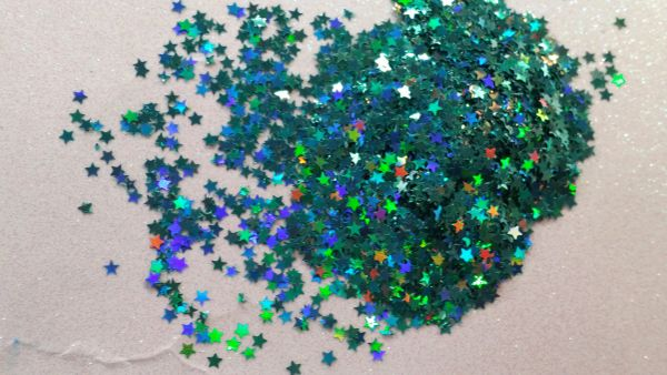 IN46 1/8th Holographic Ocean Spray Star Glitter Insert (1.5 gr baggie)