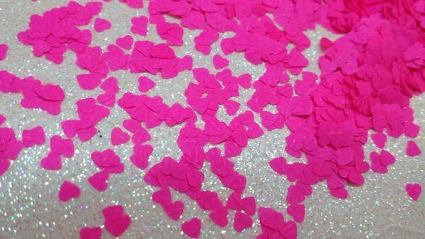 IN80 Neon Pink Heart Insert (1.5 gr baggie)