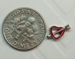 Charm #19 - Red Heart with Arrow (Perfect For Floating Lockets,, Nail Decoration & Crafts)