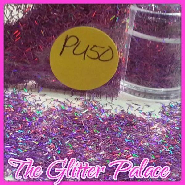 PU50 Holo Violet (Fibers) Solvent Resistant Glitter