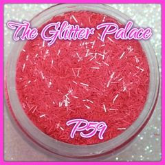 P59 Pastel Pink (Fibers) Solvent Resistant Glitter