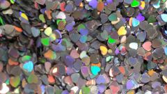 IN172 Holographic Silver Heart Insert (1.5 gr baggie)