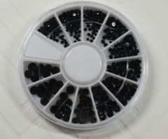 Rhinestone wheel #14 all black different sizes