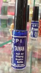 OPI Taiwan Nail Striper Paint - Glitter Blue