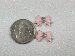 3D Bow #73 Pink Bow with Rhinestones (pack of 2)